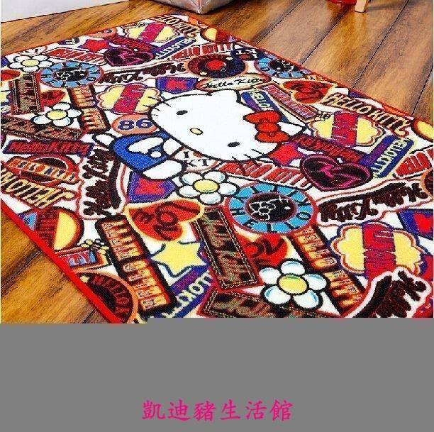 【凱迪豬生活館】韓版 hellokitty地毯 臥室可愛床邊毯 卡通動漫飄窗毯水洗長地墊個性創意$$KTZ-200978