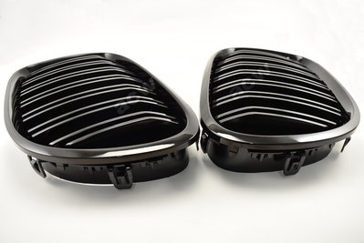 For F01-F03 M.LOOK 08-15 GRILLES  STYLE SHINY BLACK 水箱罩黑烤漆