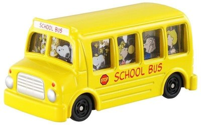 TOMICA TM154史努比巴士SNOOPY黃色校車_46641日本TOMY多美小汽車 永和小人國玩具店