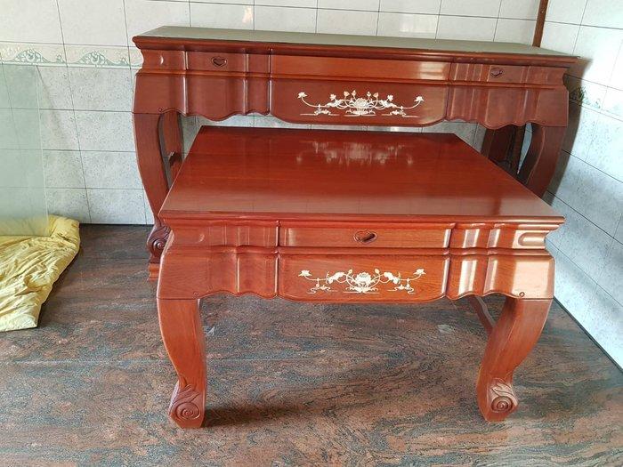 大高雄冠均二手家具批發花梨木鑲貝   佛桌   神明桌    上下桌     沒有拜過 物況好    別錯過