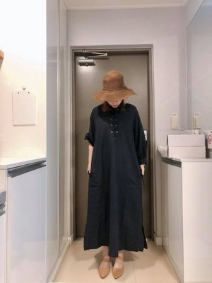 『Golden WEEK 30/30』--韓國連線--前交叉袖口澎澎綁繩長版洋裝