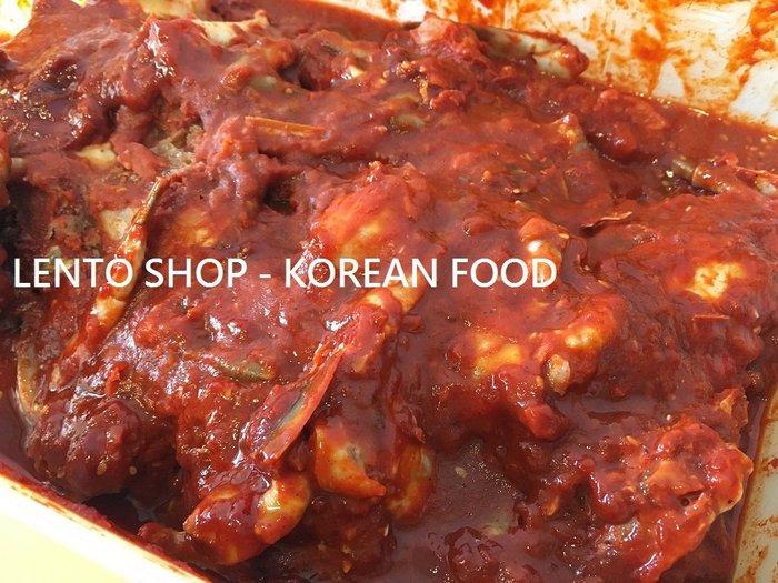 LENTO SHOP - 韓國進口 醃漬辣醬螃蟹  辣醬蟹 辣蟹 醬蟹  5公斤/盒