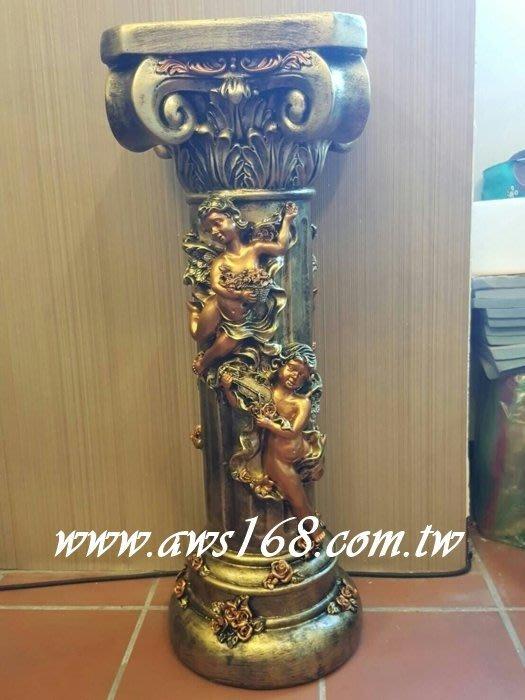歐式羅馬柱(天使玫瑰造型)波麗材質 花架 婚禮佈置 居家擺飾