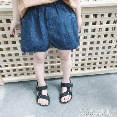 ZIHOPE 女童牛仔短褲 兒童牛仔褲男童短褲夏薄款女童褲子新款寶寶夏季短褲ZI812
