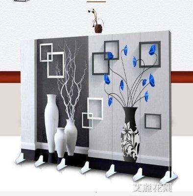 哆啦本鋪 美容院屏風推拉歐式客廳可移動折疊隔斷雙面定制現代簡約3D D655
