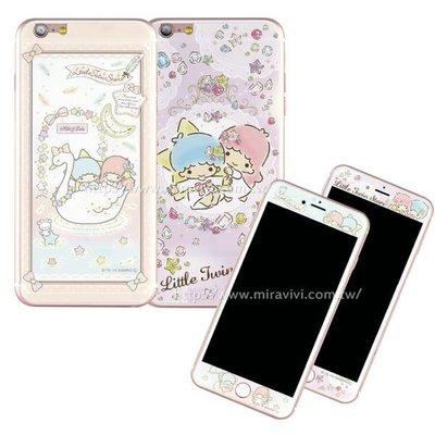 【Sanrio 】iPhone 7 Plus (5.5吋) 雙面強化玻璃彩繪保護貼-kikilala