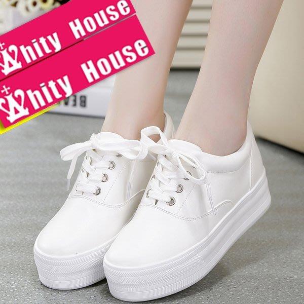=WHITY=韓國FUPA品牌 韓國製  時尚百搭推薦新款厚底鞋 獨家內增高設計高級軟皮 美腿白皙S6ED332