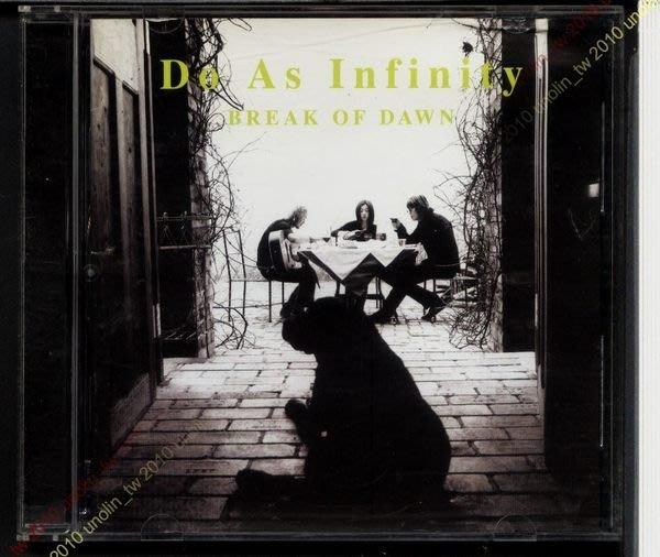 CD滿3張免運~大無限樂團D.A.I.【黎明曙光 BREAK OF DAWN】日本DO AS INFINITY專輯免競標