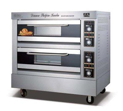 【新視界生活館】營業用二層二盤電熱烤箱/烘箱/另有瓦斯烤箱/攪拌機/發酵箱烤盤架232023