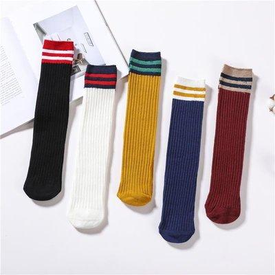 堆堆襪女韓國百搭純棉中長筒襪子日系學院風條紋短襪學生春秋薄款
