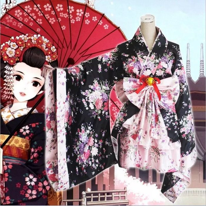 MIX style SHOP【S-232】尺碼預購❤重櫻花Cosplay雙色女裝和服套裝/成人S~XXXL/童裝S~L碼