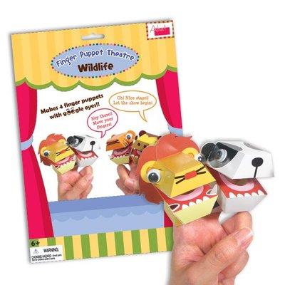 Wildlife DIY Finger Puppet Theatre