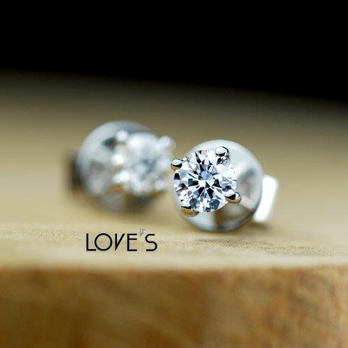 【LOVES鑽石批發】經典款-天然鑽石18K金耳環【5分、10分、15分、20分】-另售GIA LOVES DIAMOND
