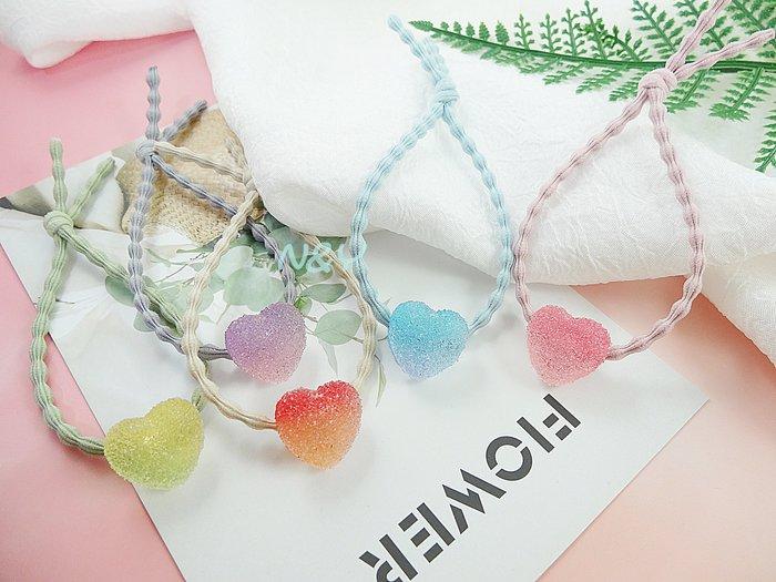 夢幻糖果色愛心星星軟糖髮圈髮飾頭繩髪束髮帶☆【N&Y】HA03