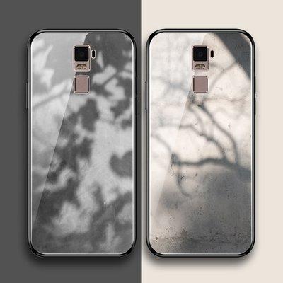 oppor7 r7plus r7s手機殼玻璃硅膠套全包邊保護軟性冷淡風灰色系日韓陰影樹葉小清新簡約紋理個性