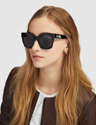 Coco小舖COACH L1047 Horse And Carriage Hologram Sunglasses 黑色