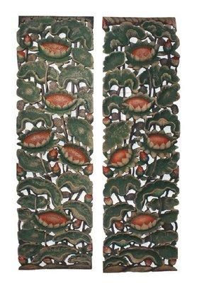 INPHIC-東南亞 家居飾品 泰國風格 木雕 掛飾 蓮花紅心 單塊