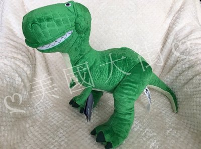 現貨【美國大街】正品.美國迪士尼玩具總動員恐龍 抱抱龍絨毛娃娃 Rex 14吋 / 35cm