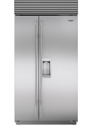 唯鼎國際【美國Sub-zero冰箱】ICBBI-42SD/S/TH雙門對開冰箱原廠不鏽鋼門(含柱狀把手.具門外取冰取水)