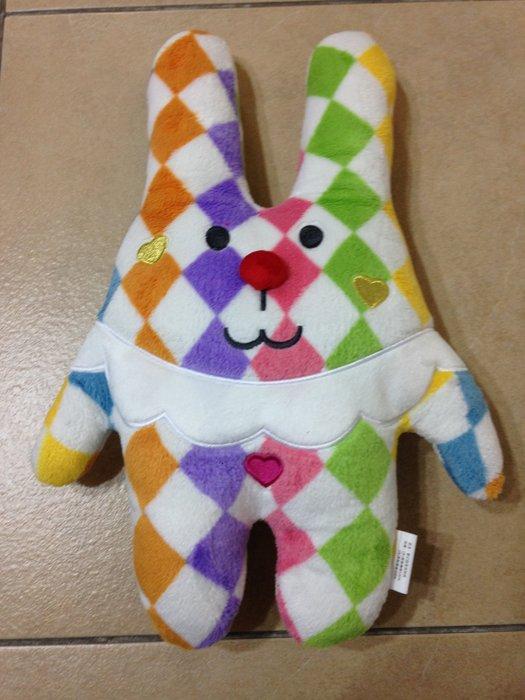 全家 宇宙人 繽紛Show CRAFTHOLIC 夢幻甜美抱抱枕 馬戲團小丑兔