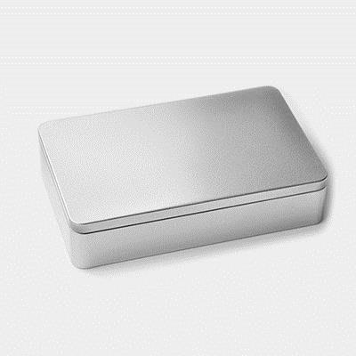 奇奇店-本色簡約鐵盒 銀色素鐵明信片照片盒子收納盒儲物盒文具盒包裝盒(6個起購)