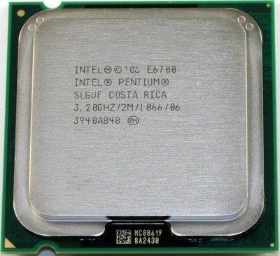 【含稅】Intel Pentium Dual-Core E6700 3.2G 雙核 庫存正式散片CPU 一年保