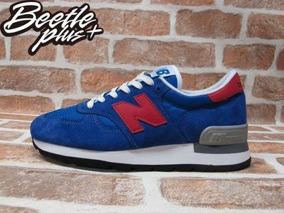 BEETLE PLUS NEW BALANCE 寶藍 紅N 慢跑鞋 麂皮 網面 30週年 英國限量 M990SB 8.5