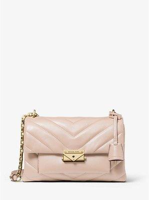 Coco 小舖Michael Kors Cece Medium Quilted Leather Bag 粉紅色肩/斜背包