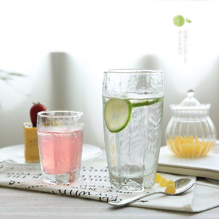 奇奇店-日式玻璃錘紋玻璃果汁杯水杯茶杯飲料杯啤酒杯玻璃杯子B-32#簡約 #輕奢 #格調