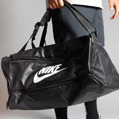 NIKE 運動休閒 訓練袋 健身裝備袋 旅行袋 可後背 大容量旅行袋 BA6395-010 黑色
