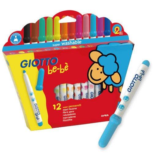 ☆本月促銷~新款【義大利 GIOTTO】可洗式寶寶彩色筆(12色)