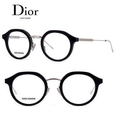 Dior Homme►(黑色框×金屬銀色) 貓眼圓框 眼鏡 光學鏡框 中性款|100%全新正品|特價
