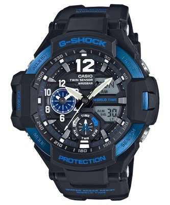 【eWhat億華】CASIO G-SHOCK 系列 GA-1100-2B 航空儀錶盤設計手錶 GA-1100 平輸 現貨 特價優惠價 【2】
