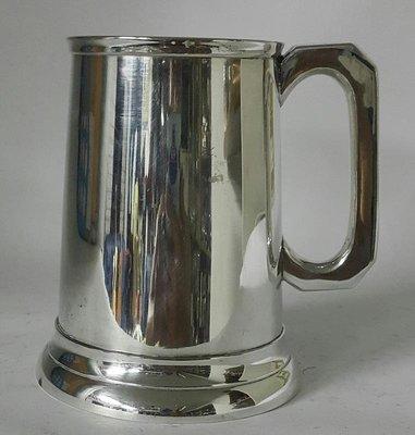 377高檔英國鍍銀杯Silver Plate, Pint Tankard, Pub Theme, Traditional