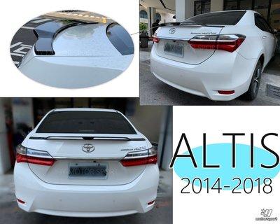 小傑車燈精品--全新 TOYOTA 2014-2018 ALTIS 11.5代 11代 運動版 式樣 擾流板 尾翼 鴨尾