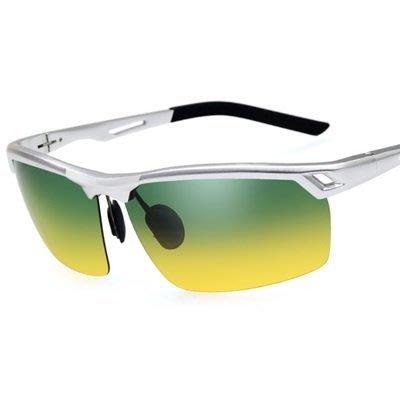 太陽眼鏡 偏光日夜視鏡-防紫外線防強光雙重功效男墨鏡2色73nm21[獨家進口][米蘭精品]