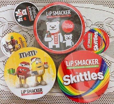 美國 Lip Smacker [ 可樂汽水口味護唇膏 ] Coca Cola 北極熊鐵盒 四支組 全新品