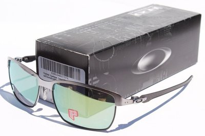 OAKLEY Tinfoil Carbon POLARIZED太陽眼鏡鉛黑/翡翠Irid新OO6018-04