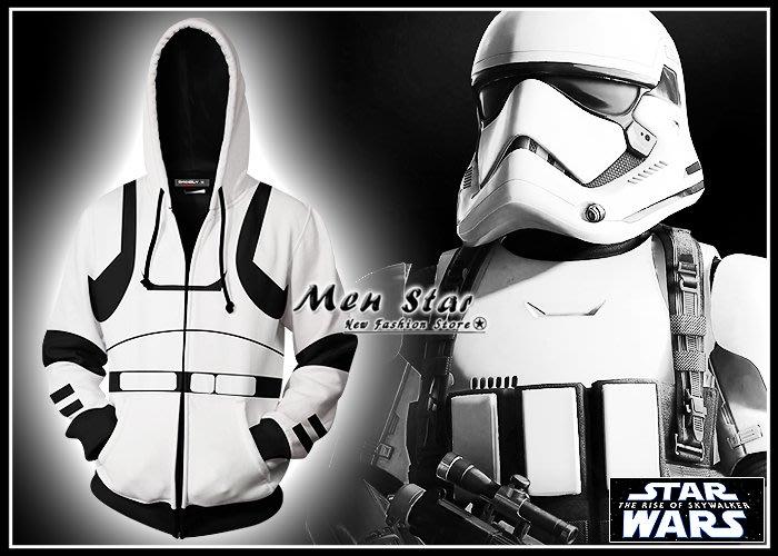 【Men Star】免運費 STAR WARS 天行者的崛起 彈力運動外套 男 女 絕地武士 光劍 兒童衣服 兒童外套