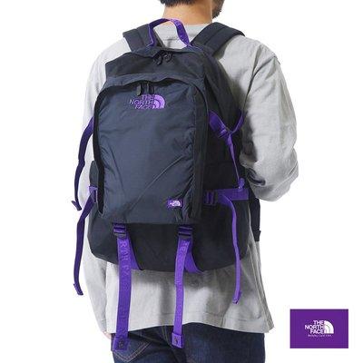 【The North Face】北臉 紫標 後背包NN7905N(黑x紫色)CORDURA尼龍日用包 NF-11