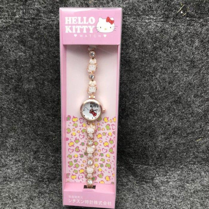 ✿荳荳小舖✿Hello Kitty浪漫凱蒂貓 ♡ 可愛學生女童手錶 兒童手表 (粉色/玫紅/白色 現貨)