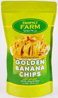 【BOBE便利士】菲律賓 TROPICS FARM golden banana chips 金黃香蕉乾脆片 350g