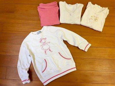 專櫃品牌童裝 純棉厚上衣  共四件 $188運50 110cm Net 送日本製居家服