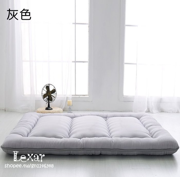 日式雙人加厚床護墊定制折疊宿舍用聚酯纖維懶人床墊