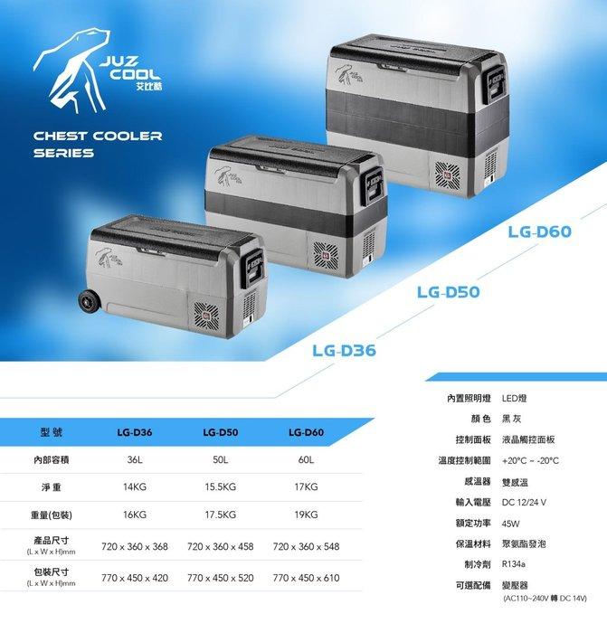艾比酷行動冰箱雙槽LG-Double系列 D50 (含加購變壓器)