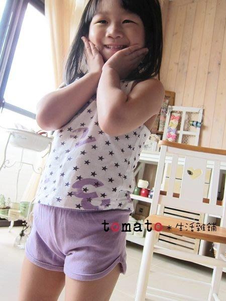 ˙TOMATO生活雜鋪˙正韓國製童裝夏日海邊清涼紫色星星數字刷色棉質背心(清)