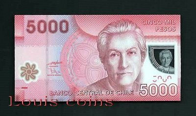 【Louis Coins】B225-CHILE--2009智利塑膠鈔票5.000 Pesos