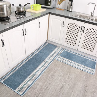 地墊 地毯七七家長條廚房地墊防滑墊 簡約現代ins廚房地毯 門墊腳墊定制