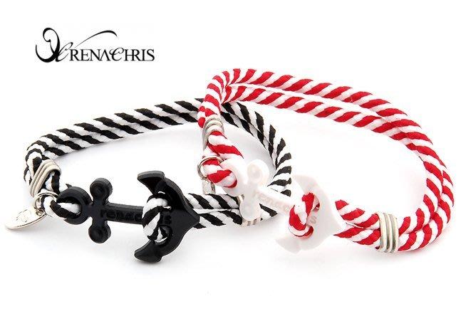BHI1077-法國品牌RenaChris 海軍錨扣手環 手鍊【韓國製】