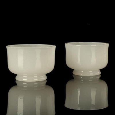 佛燈 供奉用品 宗教用品 古法玉白色琉璃供杯供水杯佛前觀音供杯供碗佛堂圣水杯凈水杯